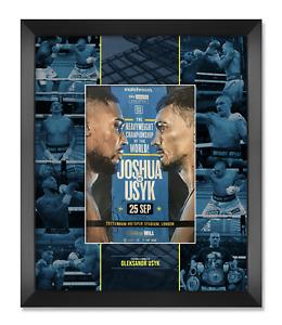 Oleksandr Usyk Signed & Framed Fight Night Programme V Anthony Joshua AFTAL COA