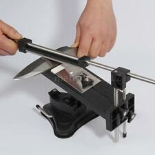 Fixed-Angle Knife Sharpener Professional Kitchen System Kit & 4 Sharpening Stone