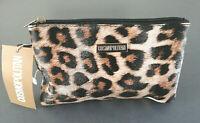 Cosmopolitan Damen Handtasche Leopard Clutch Kosmetiktasche Make-Up Tasche Neu