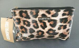 Cosmopolitan Ladies Hand Bag Leopard Clutch Cosmetic Bag Make Up Bag New
