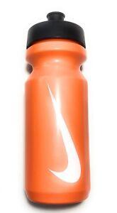New NIKE Big Mouth Water Bottle 22 Oz/ .65 Liter , Orange / White Swoosh