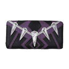 Loungefly Marvel Black Panther Purple Black Zip Around Wallet NEW Women Carrier