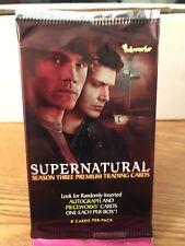 Supernatural 3 Sealed Card Pack Inkworks Ackles Padalecki Rare HTF OOP