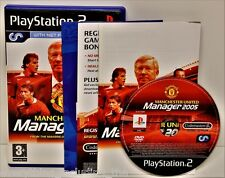 PLAYSTATION 2 MANCHESTER UNITED MANAGER 2005 NET FEATURES GAME PS1 PS2 PS3