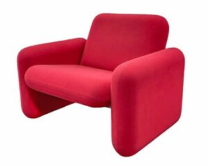 Herman Miller Ray Wilkes Red Chiclet Chair Vintage Mid Century Modern