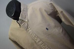 Polo Ralph Lauren Dress Shirt Classic Long Sleeve Beige / Tan Mens Size XL