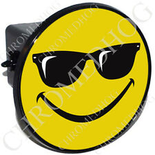 """2"""" Tow Hitch Receiver Cover Plug Insert for Most Truck & SUV - Cool Smiley Face"""