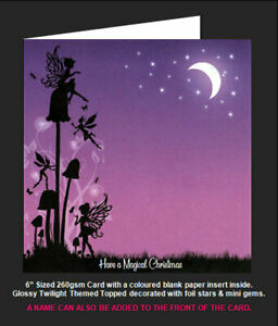Once Upon a Twilight Hunkydory 'Fairies & The Toadstools' Magical Christmas Card