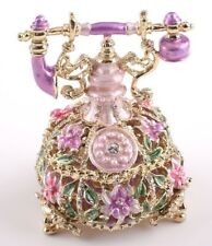 Faberge phone  trinket box hand made by Keren Kopal with Austrian crystal