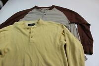 LOT OF 2 RedHead Long Sleeve Henley Shirts Medium M