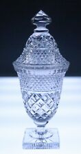 Antique English or Irish Georgian Cut Glass Sweetmeat Jar Urn Compote 19thC.