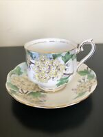 Vintage Royal Albert Hawthorn No 5 Flower of Month Tea Cup & Saucer Hand Painted