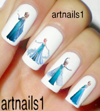 Frozen Disney Nail Elsa Blue Art Water Decals Stickers Manicure Salon Polish