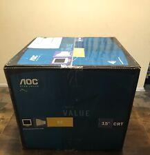 "MONITORS AOC 5E - CRT Vintage Retro Gaming Tube Computer Monitor - 15"""