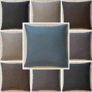 High Quality Handmade Sierra Linen Look Cushion Cover Home Decor Sofa Bed Zipper