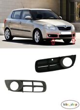 SKODA FABIA 2007 - 2010 NEW FRONT BUMPER LOWER FOG GRILL GRILLE LEFT + RIGHT