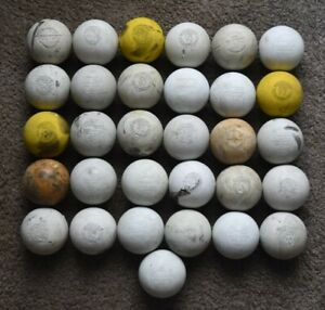 Lot of 31 Used Lacrosse Balls (Various Brands)