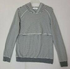 Latched Mama Gray/White Striped Nursing Hoodie Sweatshirt Sz XXL (Z4)