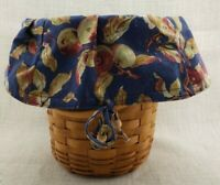 Longaberger 1995 Shades of Autumn Basket with Protector #43303 and Fabric Liner