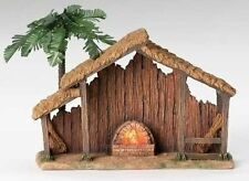 """Roman Fontanini 10"""" Lighted Resin Stable for 5"""" Nativity (50469)"""