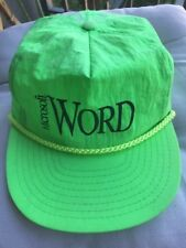 Vintage Microsoft Word Lime Green Bright Baseball Hat Adjustable Cap MS Office