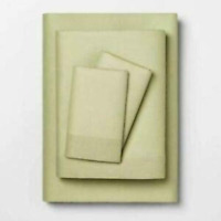 Opalhouse Twin XL Solid Easy Care Percale Cotton Sheet Set Sage