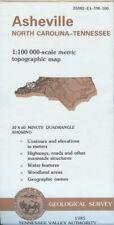 USGS Topographic Map ASHEVILLE - North Carolina Tennessee - TVA - 1985 - 100K -