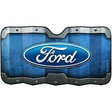 Plasticolor Ford Logo Universal Accordion Front Windshield Sunshade Cover