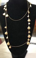 Beautiful 48 inch Matt Gold necklace; authentic Coldwater Creek, $39.99 retail