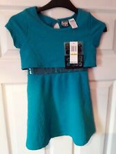 Girls Pogo Club Green Pretty Party Dress Age 5 to 6 BNWT Sequins