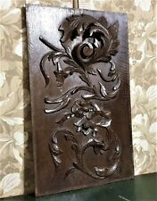 Bow griffin with scroll wood carving panel Antique french architectural salvage