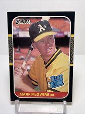 1987 Donruss Mark McGwire Rc Oakland Athletics Card # 46