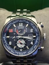Men's Citizen Eco-Drive World Time Atomic Eli Manning Limited Edition Watch