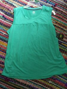 NWT ATHLETIC WORKS Size XL (16-18) Active Wear Yoke Tank Top Heathered Green