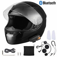 Motorcycle Full Face Helmet Size XL with Bluetooth Headset Intercom MP3 FM DOT