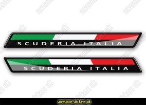 2 x ITALIAN flag stickers 010 Fiat 500 decals vinyl graphics Scuderia Italia