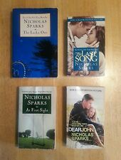 4 Nicholas Sparks books: The Lucky One, The Last Song, Dear John, At First Sight