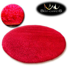 """QUALITY SHAGGY 5CM"""" ROUND CARPETS 13 COLORS Feltback twist Bedroom RUGS ANY SIZE"""
