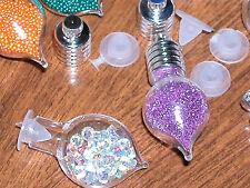 1 Glass Heart bottle Pendant Vials charm bead tiny