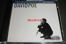 DAVID POE twin pack CD rare BLUE GLASS FALL tom lord-alge T-BONE BURNETT oop