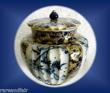Royal Doulton Burslem biscuit jar with lid - ca 1900 - FREE SHIPPING