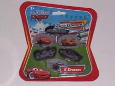DISNEY PIXAR CARS : 6 PACK ERASERS