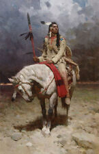 """""""Pride of the Piegan"""" Z. S. Liang Giclee Canvas"""