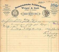"""DRESDEN, Rechnung 1888, """"Drogerie zur Laterne"""" - Chemisch-technische Produkte"""