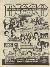1/12/79PN42 ADVERT: DISCO MARVIN GAYE & MORE AT THE NEC BIRMINGHAM 15X11