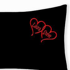 Personalised EMBROIDERED LOVE HEART Pillowcase Boyfriend Christmas gift KEEPSAKE