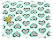 Coeur Popeline Baumwolle Webware Stenzo Herzen vanille 50 cm