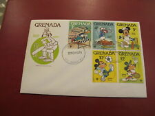 Grenada First Day Cover- Walt Disney - Mickey Mouse / Goofy playing Sports