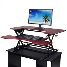 Stand Up Computer Desk Adjustable Laptop Stand Workstation Table Riser Office BN