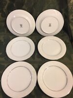 "Noritake Ranier Salad Plate 8 3/8"" Embossed White Floral Platinum  (6) Avail"